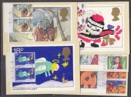 Great Britain 1981 Christmas  5v (pair)  5 Maxicards (31623) - Maximumkaarten