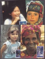 UNO New York / Geneva / Vienna 1995 4th World Conference On Women 3x2v 6  Maxicards  (31624) - Gezamelijke Uitgaven New York/Genève/Wenen