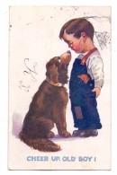 """HUNDE - """"Cheer Up, Old Boy, Künstler-Karte - Hunde"""