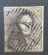 BELGIE  1849   Nr. 1   (23)   Gestempeld      CW  90,00 - 1849 Epaulettes