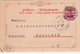 POSTKARTE  ALLEMAGNE 4.3.1905  - NEHEIN POUR LA FRANCE /  7668 - Briefe U. Dokumente