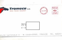 Lettre Machine Le Mesnil Entete Equipement Moteur Tromeca Theme Cheval - Marcophilie (Lettres)
