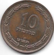 Israel,10 Pruta 1949,with Pearl,km11,xf+ - Israel