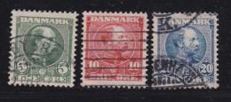 DENMARK, 1904, Used Stamp(s), Definitives, Christian IX,   Mi 47=52, #10010, 3 Values Only - 1864-04 (Christian IX)