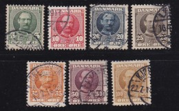 DENMARK, 1907, Used Stamp(s), Definitives, Frederik VIII,   Mi 53-59, #10011, Complete - 1905-12 (Frederik VIII)