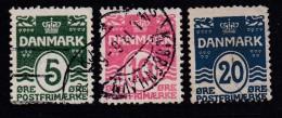 DENMARK, 1912, Used Stamp(s), Definitives, Numbers,   Mi 63-65, #10013, Complete - 1905-12 (Frederik VIII)