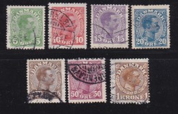 DENMARK, 1913, Used Stamp(s), Definitives, Christian X,   Mi 67=76, #10014, 7 Values Only - 1913-47 (Christian X)