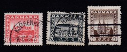 DENMARK, 1920, Used Stamp(s), Castles And Dom,   Mi 110-112, #10017,  Complete - 1913-47 (Christian X)