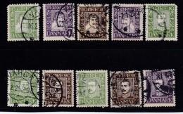 DENMARK, 1924, Used Stamp(s), Christian IV + Christian X,  Mi 131=142, #10022,  Complete (a Few Short Perfs) - 1913-47 (Christian X)