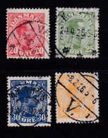 DENMARK, 1925, Used Stamp(s),  Christian X,  Mi 146=150, #10023,  4 Values Only - 1913-47 (Christian X)