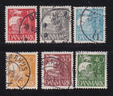 DENMARK, 1927, Used Stamp(s), Definitives, Ships,  Mi 168-173, #10027,  Complete - 1913-47 (Christian X)