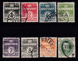 DENMARK, 1933, Used Stamp(s),Definitives, Numbers,  Mi 195-201, #10031,  Complete - 1913-47 (Christian X)