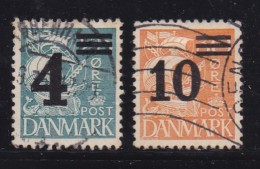 DENMARK, 1934, Used Stamp(s),Definitives, Overprints,  Mi 215-216, #10034, Complete - Used Stamps