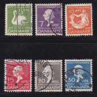 DENMARK, 1935, Used Stamp(s), Andersens,  Mi 222-227, #10036, Complete - 1913-47 (Christian X)