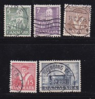 DENMARK, 1936, Used Stamp(s), Reformation,  Mi 228-232, #10037, Complete - 1913-47 (Christian X)