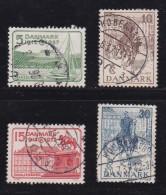 DENMARK, 1937, Used Stamp(s), Jubilee,  Mi 237-240, #10039, Complete - 1913-47 (Christian X)