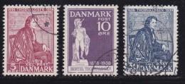 DENMARK, 1938, Used Stamp(s), Thorvaldsen,  Mi 247-249, #10042, Complete - 1913-47 (Christian X)