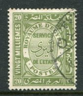 Egypt 1926-35 Officials - 20m Olive-green Used (SG O148) - Egypt