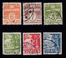 DENMARK, 1940, Used Stamp(s), Definitives, Numbers + Ships,  Mi 258-265, #10045, Complete - 1913-47 (Christian X)