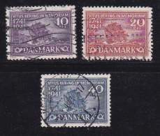 DENMARK, 1941, Used Stamp(s), Vitus Bering,  Mi 266-268, #10048, - Used Stamps