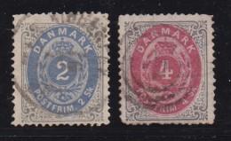 DENMARK, 1870, Used Stamp(s), Definitives,  Mi 16=20, #10004, - Used Stamps