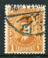 Egypt 1927-37 King Fuad I - 1m Orange Used (SG 148) - Egypt