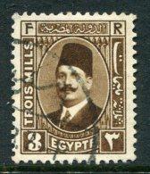 Egypt 1927-37 King Fuad I - 3m Deep Brown Used (SG 152) - Egypt