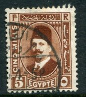 Egypt 1927-37 King Fuad I - 5m Deep Red-brown Used (SG 156a) - Egypt