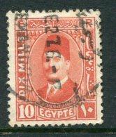 Egypt 1927-37 King Fuad I - 10m Red Used (SG 157) - Egypt