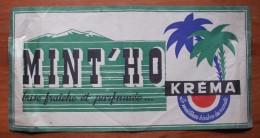 """Ancien Chapeau Papier Publicitaire """"Kréma - Mint'ho"""" - Casquettes & Bobs"""