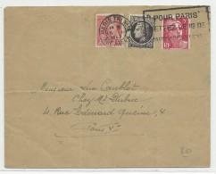 1947 - MERCURE + GANDON + MAZELIN Sur ENVELOPPE 2° ECH De PARIS Pour PARIS - Postmark Collection (Covers)