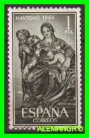 ESPAÑA  ( EUROPA )  SELLO  NAVIDAD  AÑO 1963 NUEVO - 1961-70 Nuevos & Fijasellos