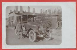 Carte Photo Allemande à Localiser - Voiture FIAT - Soldats Allemands - 1. Bay. Landw. Div. - Feldpost - Guerre 14/18 - Guerra 1914-18