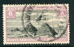 Egypt 1933 Air - 8m Black & Violet Used (SG 201) - Egypt