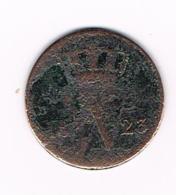 °°° NEDERLAND  1 CENT  1823  WILLEM I - [ 3] 1815-… : Royaume Des Pays-Bas