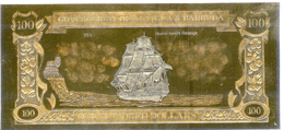 The World´s First Gold & Silver Banknotes - QUEEN ANNE'S REVENGE - Billets