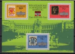 SURINAME : Blok 35  ** MNH – Expo WIPA 1981 WIEN - Surinam