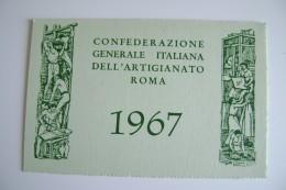 1967  CONFEDERAZIONE GENERALE ITALIANA DELL' ARTIGIANATO ROMA  OTTICO MEDICO BARI - Documenti Storici