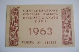 1963  CONFEDERAZIONE GENERALE ITALIANA DELL' ARTIGIANATO ROMA  OTTICO MEDICO BARI - Documenti Storici