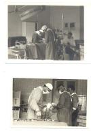 Lot 2 Photos (+/- 9 X 13 Et 10 X 14 Cm) Salle D´opération - Chirurgien, Médecin -Medecine- Hopital, Patient. (Mi8) - Métiers