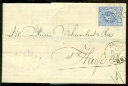 Nederland 1888 Brief Verzonden Uit Assen Met Zegel NVPH 19 Met Ontvangststempels En Kastje C76 - Period 1852-1890 (Willem III)