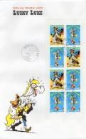 """2003 - Grande Enveloppe 1er Jour - Fête Du Timbre - Bande Dessinée """"LUCKY LUKE"""" - Carnet Complet BC3546a - 2000-2009"""
