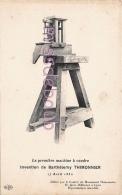 INVENTION  La Première Machine à Coudre - De Barthélemy THIMONNIER - 17 Avril 1830  -2 Scans - Industrie