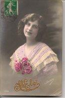 L25C133 - Saint Eloi - Jeune Femme Avec Des Roses - Irisa N°2758 - Fêtes - Voeux