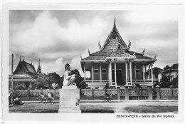 Cpsm Cambodge - Phnom-Penh - Statue Du Roi Lépreux - Cambodge