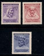 GERMANY, BOHMEN & MAREN, 1943, Hinged Unused Stamp(s) Winter Support  MI 114-116,  #13444,  Complete - Occupation 1938-45