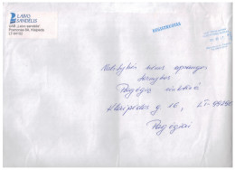 Lithuania Cover Sent From Klaipeda  To Pagegiai 2012 - Lithuania