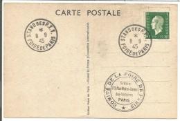OBLITERATION STAND FOIRE DE PARIS DU 14/9/1945 - Commemorative Postmarks