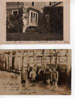 DEUX CARTES PHOTOS DE SYRACUSE EN ETE  (scan Recto Et Verso) - Syracuse