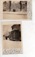 DEUX CARTES PHOTOS DE SYRACUSE EN HIVER  (scan Recto Et Verso) - Syracuse